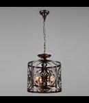 Lampa suspendata  House Rustika,3 x E14, 230V, D.36cm,H.43 cm,Maro inchis