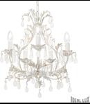candelabru Cascina, 5 becuri, dulie E14, D:440 mm, H:600/1100 mm, Alb