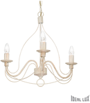 candelabru Corte, 3 becuri, dulie E14, D:440 mm, H:600/1000 mm, Alb antic