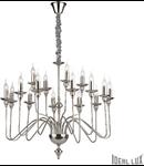 candelabru Artù, 16 becuri, dulie E14, D:900 mm, H:980/1800 mm, Nichel