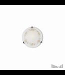 plafoniera Foglia D30, 1 bec, dulie E27, D:300mm, H:110 mm, Alb