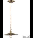 pendul Cantina mic, 1 bec, dulie E14, D:250 mm, H:250/1400 mm, Maro