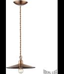 pendul Cantina mic, 1 bec, dulie E14, D:250 mm, H:250/1400 mm, Cupru