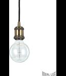 pendul Frida, 1 bec, dulie E27, D:100 mm, H:300/1500 mm, Brun