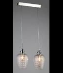 Lampa suspendata Fusion Blues,2 x E14,D.360,cm,H.1000 cm,Nichel