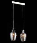 Lampa suspendata Fusion Blues,2 x E14,D.360,cm,H.1000 cm,Nichel fumuriu