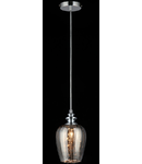 Lampa suspendata Fusion Blues,1 x E14,D.140,cm,H.1000 cm,Nichel fumuriu