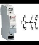 contactor modular Contax, 20A, 24V, CA, 1 modul, 1ND 1IN, Alb
