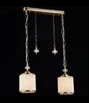 Lampa suspendata Fusion Sherbon,2 x E27,D.430,cm,H.250 cm,Bronz antic
