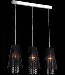 Lampa suspendata Fusion Assol,3 x E14,D.730,cm,H.1000 cm,Negru