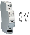 contactor modular Contax, 20A, 12V, CA, 1 modul, 2ND, Alb
