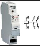 contactor modular Contax, 20A, 230V, CA, 1 modul, 2ND, Alb