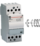 contactor modular Contax, 24A, 24V, CA/CC, 2 modulE, 2ND 2NI, Alb