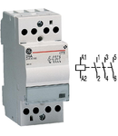 contactor modular Contax, 24A, 24V, CA/CC, 2 module, 3ND, Alb