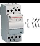 contactor modular Contax, 24A, 230V, CA/CC, 2 module, 3ND, Alb