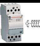 contactor modular Contax, 24A, 230V, CA/CC, 2 module, 4NI, Alb