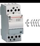 contactor modular Contax, 24A, 230V, CA/CC, 2 module, 4ND, Alb