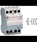 contactor modular Contax, 40A, 24V, CA/CC, 3 module, 3ND, Alb