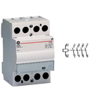 contactor modular Contax, 40A, 230V, CA/CC, 3 module, 4ND, Alb