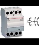contactor modular Contax, 63A, 230V, CA/CC, 3 module, 2ND, Alb