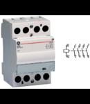 contactor modular Contax, 63A, 240V, CA/CC, 3 module, 4ND, Alb