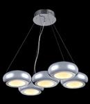Lampa suspendata Modern Pulsar LED,5 x 12W,D.600x440,cm,H.1200 cm,Crom