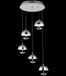 Lampa suspendata Modern Perseus ,LED 5x4,8W,D.44,cm,H.17 cm,Nichel