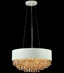 Lampa suspendata Modern Rivera ,6 x E14, D.50, cm, H.26 cm,Alb