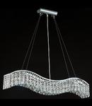 Lampa suspendata Modern Snak ,5 x E14, D.96, cm, H.17 cm,Argintiu I