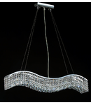 Lampa suspendata Modern Snak ,5 x E14, D.96, cm, H.17 cm,Argintiu II
