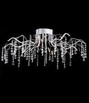Plafoniera Modern Spring LED 40 W, D.88, cm, H.32 cm,Nichel