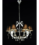 Candelabru Modern Mina,6 becuri dulie E14, 230V,D.66cm, H.56 cm,Nichel