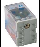 releu fisabil miniatura, 2 contacte comutatoare, 24V, CC cu dioda