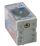 releu fisabil miniatura 4 contacte comutatoare, 110V, CC cu dioda