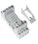 clema de fixare metalica pentru releu fisabil miniatura 3 contacte comutatoare