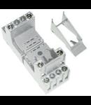 clema de fixare metalica pentru releu fisabil miniatura 4 contacte comutatoare