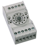 soclu pentru releu fisabil standard 8 pini, 2 contacte comutatoare