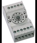 soclu pentru releu fisabil standard 11 pini, 3 contacte comutatoare