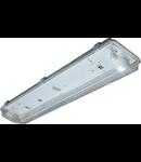 Lampa tehnica medii umede,2 x 18W,tub fluorescent T8 ,IP65,L:66 cm,policarbonat,electronic