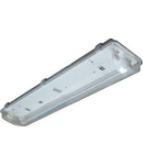 Lampa tehnica medii umede,2 x 18W,tub fluorescent T8 ,IP65,L:66 cm,acril,electronic