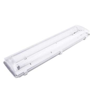 Lampa tehnica medii dure,2 x 24W,tub fluorescent T5 ,IP65,L:66 cm,policarbonat,electronic