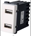 Priza USB dubla incarcator telefon  2A 1 modul NV-1220.250