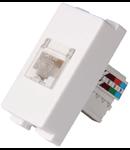 Priza telefon RJ45 cat 5e  alba  1 modul NV-1220.260
