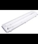 Lampa tehnica mediu umed,2 tuburi LED T8 ,IP65,L:66 cm,acril