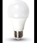 Bec cu LED-uri - 7W E27 A60 termoplastic lumina alb cald 3000K, VT-2007