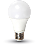 Bec cu LED-uri - 7W E27 A60 termoplastic lumina alb rece 6000K, VT-2007