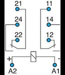 Soclu releu 2 contacte in miniatura 8A  PCB