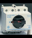 Separator de sarcina cu montare pe sina DIN, 4P, 4 module, standard gri, 40A