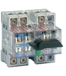 Separator de sarcina cu montare pe sina DIN, 3P, 5 module, transparent, 80A