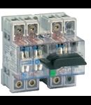 Separator de sarcina cu montare pe sina DIN, 4P, 5 module, transparent, 80A